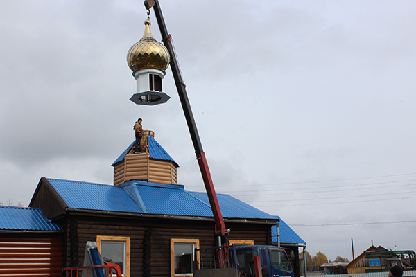 Приход в Улу-Юле обретает купол